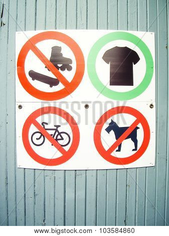 What Not To Wear Or Do Sign