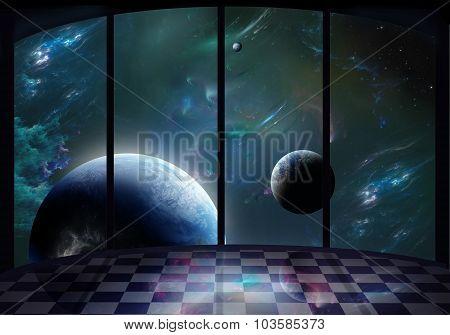 Fantastic Platform In The Space