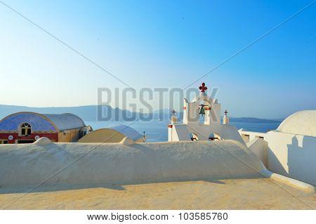 Santorini island at morning, Greece