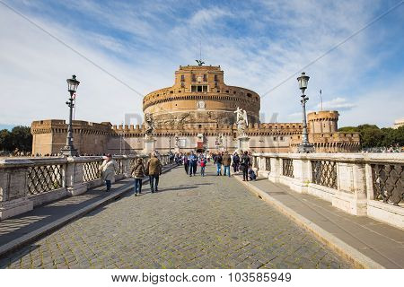 Castel Of Sant'angelo In Rome, Italy
