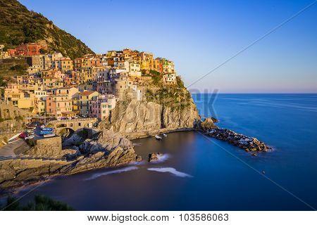 Lanscape Of Manarola In Cinque Terre, Italy