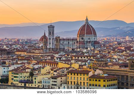 The Cityscape Of Florence In Tuscany, Italy