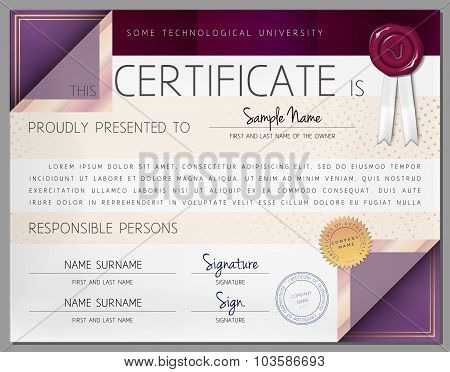 Gift Certificate / Diploma / Award Border Template in Vector
