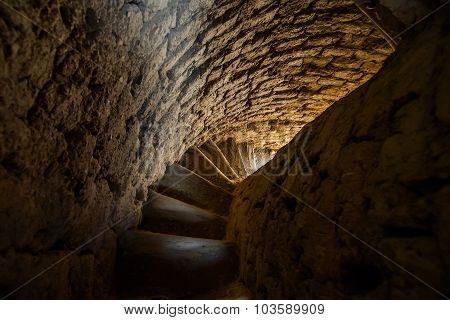 Spiral Stairway Of Old Minaret