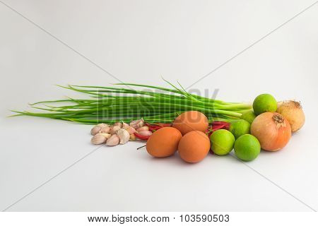 Three eggs and asia Ingredient