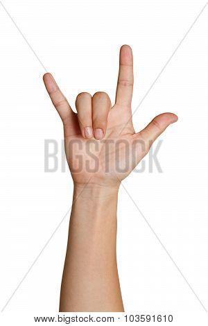 I Love You Hand Symbolic