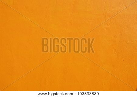orange cement wall of a house