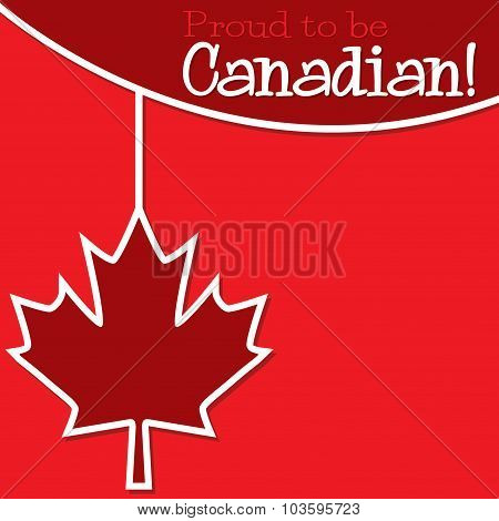 Canada Day String Card In Vector Format.