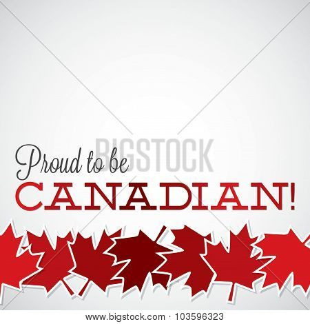 Leaf Line Canada Day Card In Vector Format.