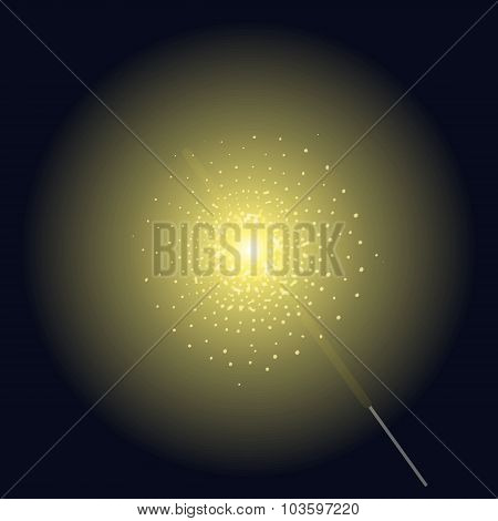 Burning sparkler vector clip art