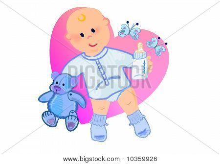 Heartshape with baby boy