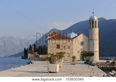 View Of The Island  Our Lady Of The Rocks In The Bay Of Kotor, Montenegro