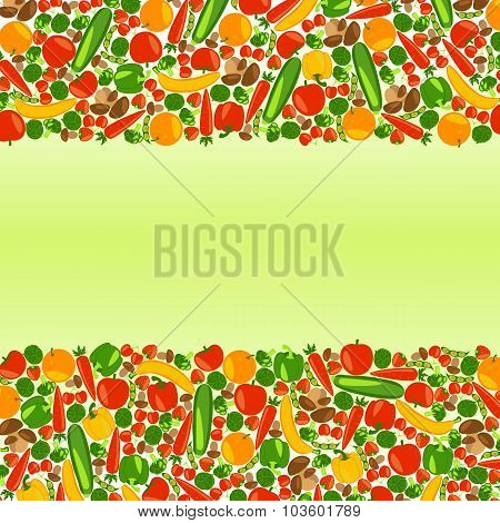 Vegetarian background with place for your text.
