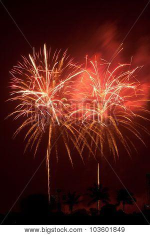 Fireworks Exploding Bangkok