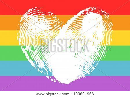 Poster With Lgbt Support Symbol