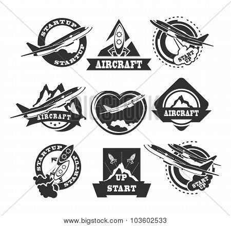 Set Of Aircraft Icons