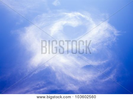cloud rose and heart