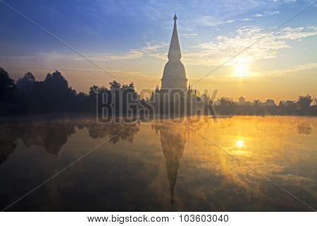 Pagoda Sharp Gold With Sunrise