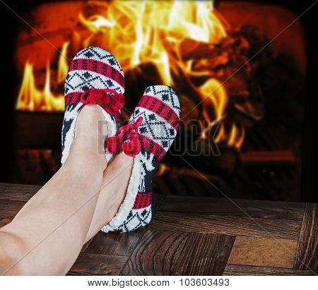 Christmas Female Slippers