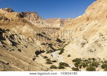 View From Ein Gedi Kibbutz. Near Dead Sea, Israel