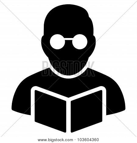 Student Reading Book Icon