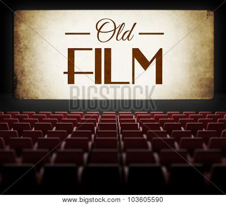 Old Film In Vintage Retro Cinema
