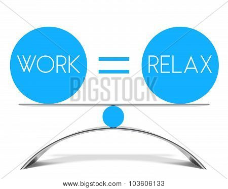 Conceptual Balance Of Work And Relax