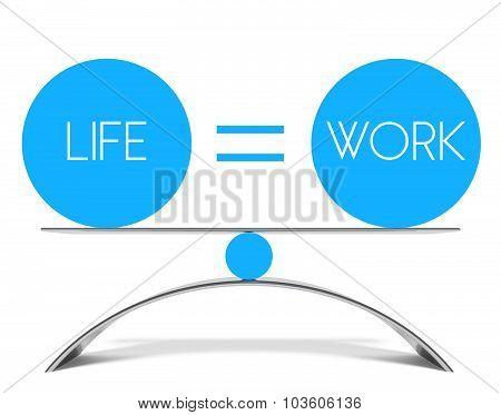 Conceptual Balance Of Life And Work