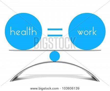 Conceptual Balance Of Health And Work