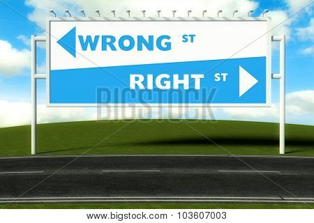 Conceptual Direction Signs Lead To Wrong Or Right