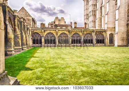 Cloister of the Westminster Abbey London