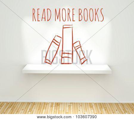 Read More Books Sketch Concept