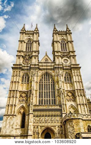 Facade of the Westminster Abbey London