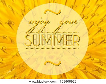 Enjoy Your Summer With Flower Macro Background