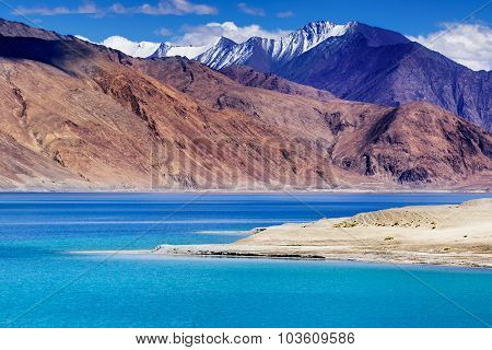 Pangong Tso Lake, Leh, Ladakh, Jammu And Kashmir, India
