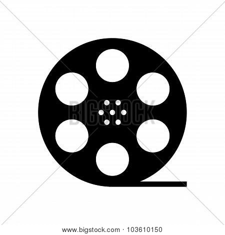 black film reel silhouette