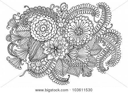 Doodle Floral pattern