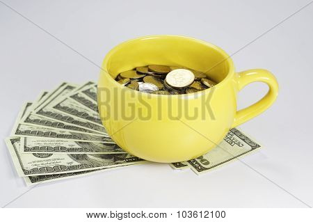 Cup Full With Money
