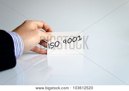 Iso 9001 Text Concept