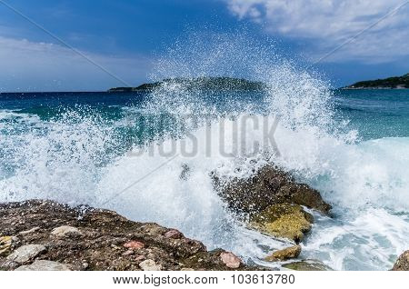 Storm Wave On The Sea
