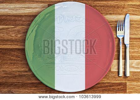 Italian Pizza Plate Concept