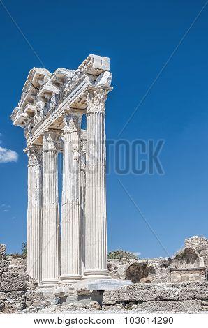 Side Temple Of Apollo Ruins