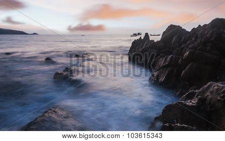 High Dynamic Range Technique Of Seascape In Twilight