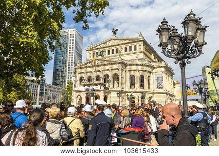 25Th Anniversary Of German Unity In Frankfurt