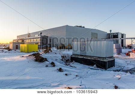 Sunset View On Site At Winter