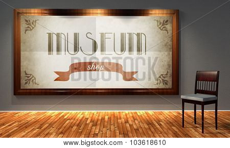 Museum Shop In Old Fashioned Frame