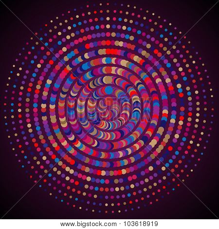 Vivid Colors Celebrations Round Particles Abstract Background. Colorful Circles Composition.