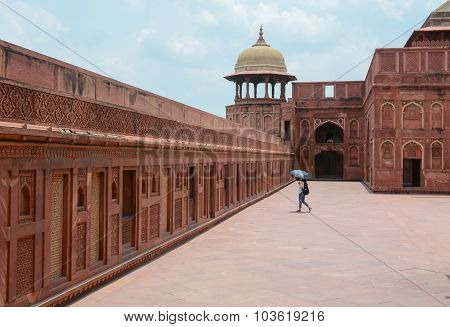 Indian People Visit Agra Fort