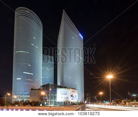 Azrieli Center Towers In Downtown Tel Aviv