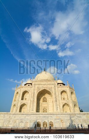 View Of Taj Mahal In Agra